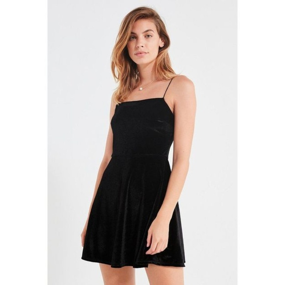 Urban Outfitters Dresses & Skirts - Urban Outfitters Velvet Straight-Neck Mini Dress